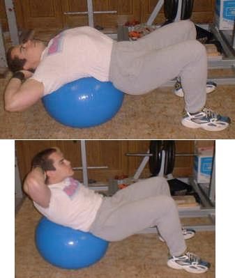 Stability Ball Crunch Picture