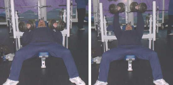 incline dumbbell bench press picture