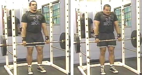 Barbell Shoulder Shrugs Picture